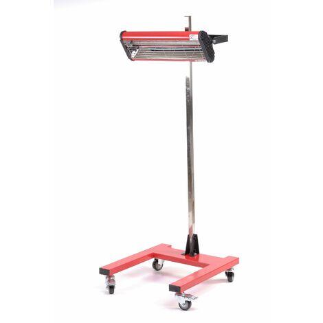 Varan Motors - 602023 Lampe infrarouge pour sèchage carrosserie 1100W sécheur infrarouge pour peinture - Rouge