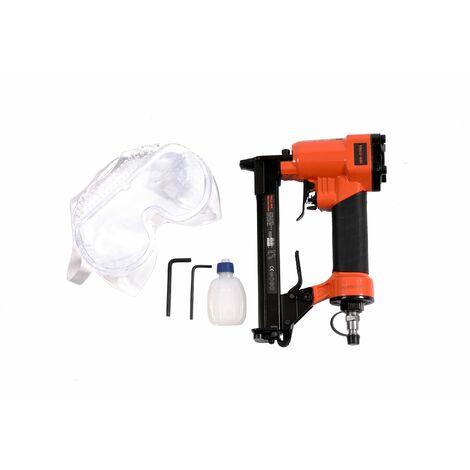 Varan Motors - 8016 Druckluftnagler für Nägel 6-16MM und Ga21 Klammern (0,95x0,65mm) - Arancione