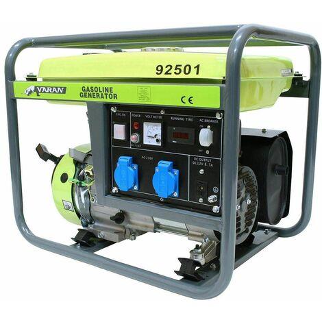 Varan Motors - 92501 Generador eléctrico gasolina 2800W 2 x 230V 1 x 12VDC - Gris