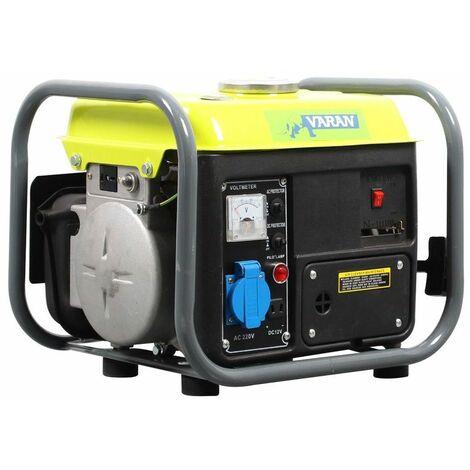 Varan Motors - 92508-2 Grupo electrógeno portátil a gasolina 750W, 1 x 230V, 1 x 12VDC - Gris