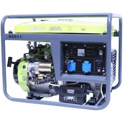 Varan Motors - 92511 Generador eléctrico gasolina 6.0kW 2 x 230V 1 x 12VDC - Gris