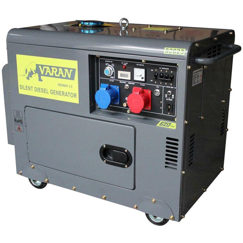 varan motors 92623 ats silent diesel generator 5kva 400v 230v ats automatic transfer switch