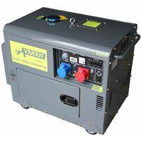 Varan Motors - 92623 Generador eléctrico diésel insonorizado, grupo electrógeno 5kVA 400V & 230V sin pérdida