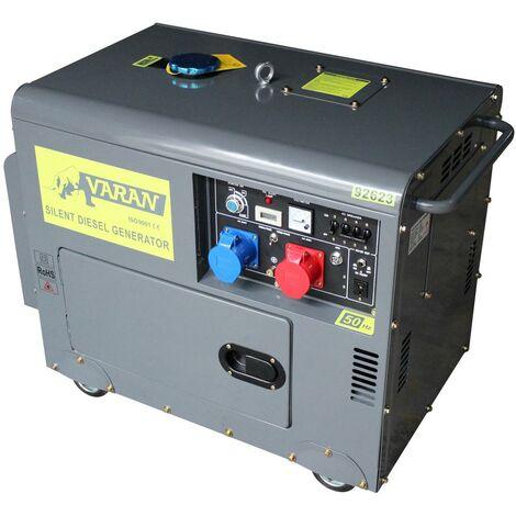 Varan Motors - 92623 Silent Diesel Generator 5kVA 400V & 230V without Loss