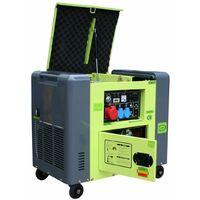 Varan Motors - 92625 Elektrischer Dieselgenerator schallgedämpft Typ Panda Stromaggregat 400V + 230V 6.25kVa