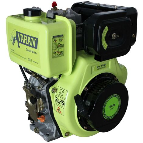 Varan Motors - 92681 10HP 7.35KW 418CC DIESEL ENGINE WITH ELECTRIC START AND 1'' 25.4MM OUTPUT