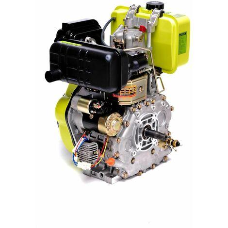 Varan Motors - 92683 Motor diésel 10CV 418cc + arranque eléctrico, salida cónica FG3 - Gris