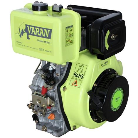 Varan Motors - 92684 Engine Diesel 14HP 456cc + Electric Start, Conical outlet FG3