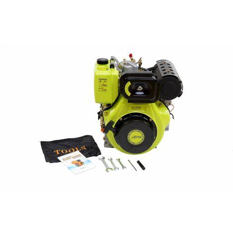 Varan Motors - 92686 Motor diésel 13CV 498cc + arranque eléctrico - Gris