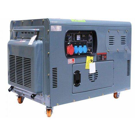 Varan Motors - 92691 Generador / grupo electrógeno diésel insonorizado 12kVa 400V 230V 12V