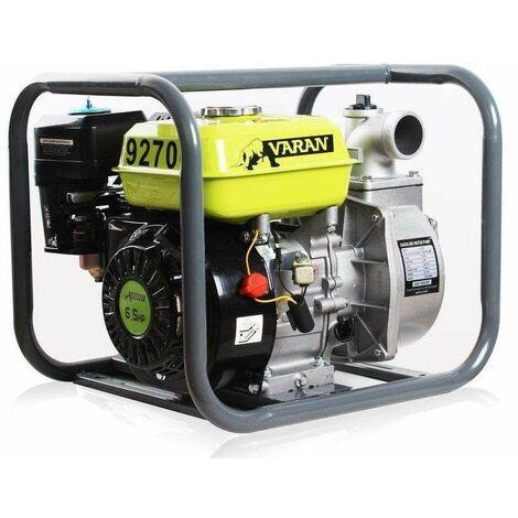 Varan Motors - 92700 Pompe à eau thermique Motopompe essence 2'' 36m³/h 6.5CV