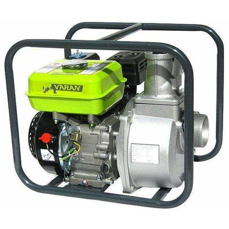 Varan Motors - 92702 Pompe à eau thermique Motopompe essence 3'' 60m³/H 6.5CV 32m hauteur max - Gris