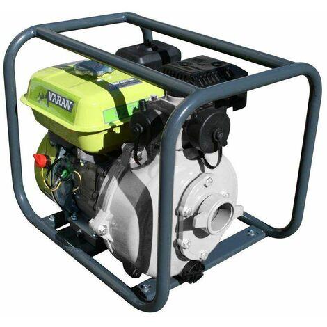 Varan Motors - 92703 Bomba de agua térmica de alta presión 45.000L/H gasolina, 196cc 6.5cv - Gris