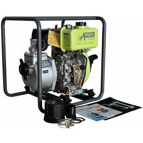 Varan Motors - 92705 Pompe à eau thermique Diesel 2'' 211cc 4CV, 36m³/h, 26m hauteur d'eau
