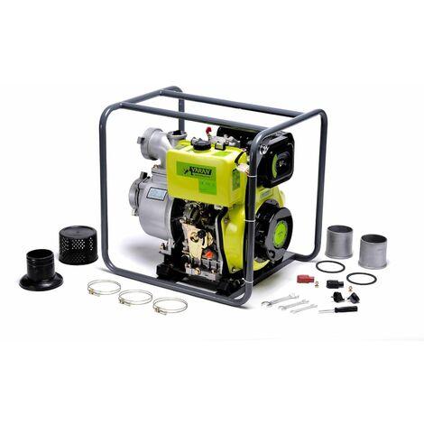 "Varan Motors - 92707 Wasserpumpe Diesel Motorpumpe 4"" 418cc 10PS, Elektrostarter 96m3/h, 31m max."
