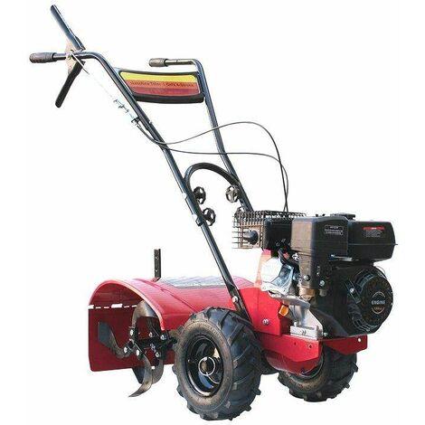 Varan Motors - 93020 Motocultor térmico motor 6.5CV anchura de trabajo 50CM con ruedas todoterreno - Rojo