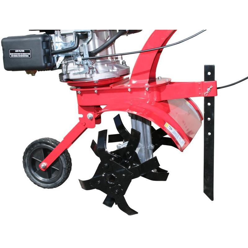 Varan Motors - 93021 Gasoline Petrol Tiller 140cc 4 5HP Working width 40CM  with guide wheel