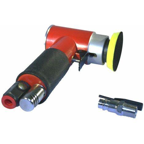 Varan Motors - AT-1500 Mini Lijadora de aire excéntrica para discos de lijado de 2'' - Rojo