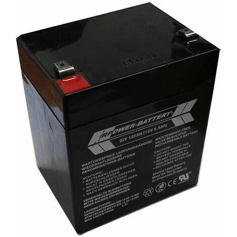 Varan Motors - BAT-GIV-1255h Batería acumulador de electricidad 12V, 5.5Ah - Negro