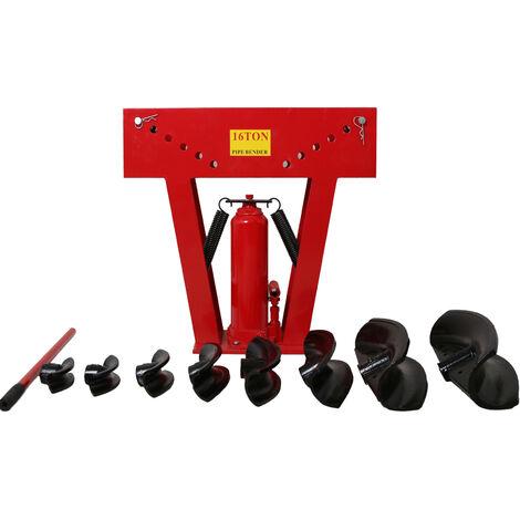 Varan Motors Cintreuse hydraulique 16T presse à cintrer tube tuyau plomberie 8 matrices