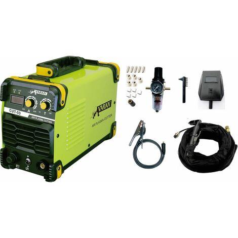 Varan Motors - CUT50 Découpeur Plasma 50A portatif CUT-50 Inverter IGBT + manomètre de pression - Vert