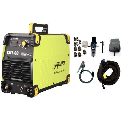 Varan Motors - CUT60-400V Découpeur Plasma 60A 400V CUT60 Inverter Fonction HF et refroidissement, découpe jusqu'à 20mm - Vert