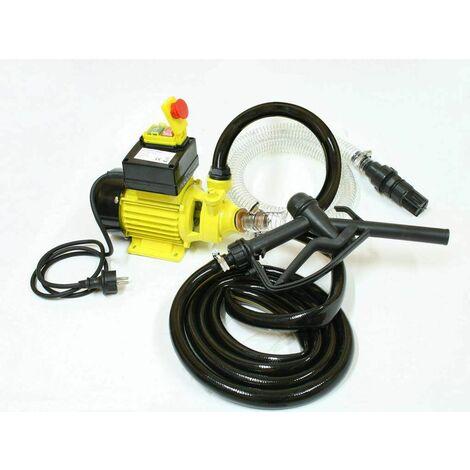 Varan Motors - CYB600 Pompe à fuel pompe à gasoil 230V 40l/min - 600W- 2400l/h - Jaune