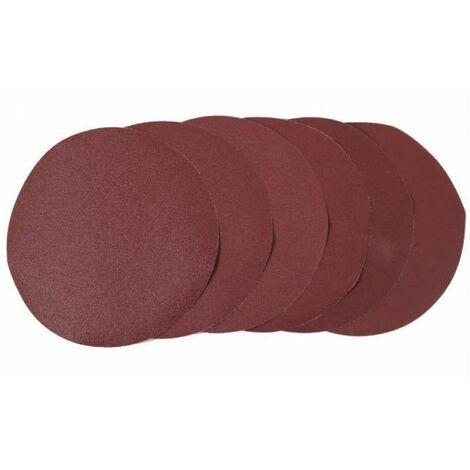 Varan Motors - disc-dmj-700a 6 Discos lija velcro diametro 225mm 80, 100, 120, 150, 180, 240 - Rojo