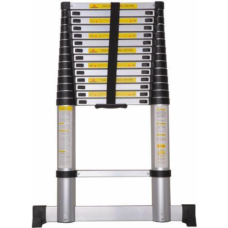 Varan Motors - DLT214B-2019 Aluminum telescopic ladder 4,4m, 15 steps