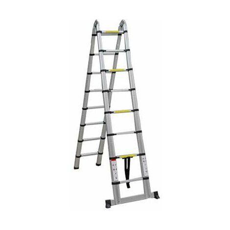 Varan Motors - DLT708B Aluminum multifunctional telescopic ladder 5,0m, 16 steps