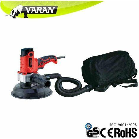 Varan Motors - dmj-700d-2 Ponceuse de plâtre, plaque de plâtre orbitale à main 750w avec sac de réception des poussières - Rouge