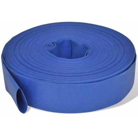 "main image of ""Varan Motors - flathose3-50M Manguera de presión de PVC de 76,2mm (3''), enrollable 50 metro - Azul"""