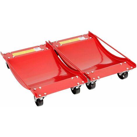Varan Motors - HMBC-006 Paire de chariots de déplacement pour véhicules, 2 Plateaux pour pneu jusqu'à 365mm