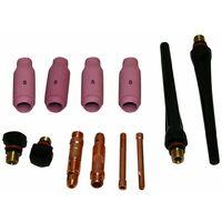 Varan Motors - kittigWP17-5 Kit di materiali di consumo per torcia TIG WP17, WP18 WP26 SR9, SR17, SR20, SR25, SR26