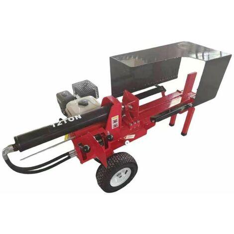 Varan Motors - LS12T Fendeuse de bûches thermique 6.5cv tractable, 12 Tonnes, jusqu'à 35cm de diamètre - Rouge