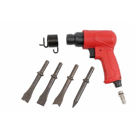 Drucklufthammer Set 10-tlg Druckluftmeißel Meißelhammer Druckluft Hammer Meißel