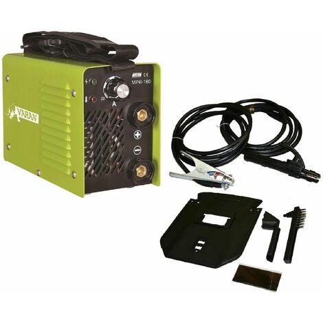 Varan Motors - mini-160-2 Poste à souder à l'arc portatif 160A Inverter + Accessoires - Gris