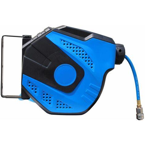 Varan Motors - NEAHR-01 Dévidoir - Enrouleur de tuyau pneumatique mural 10m 17bar Rotation à 180° - Bleu