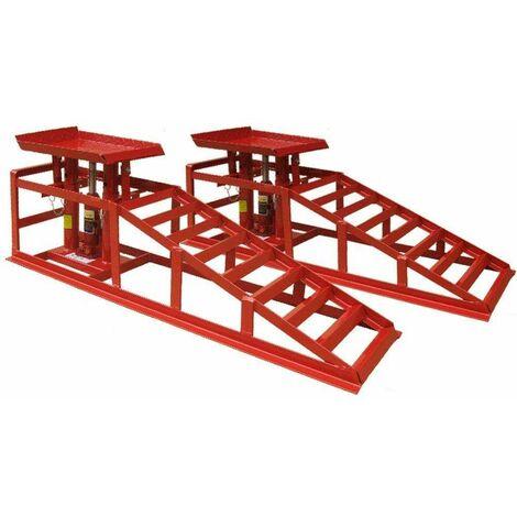 Varan Motors - NECRR-02 Plataformas de elevación con gatos integrados, 4 toneladas, lote de 2 piezas