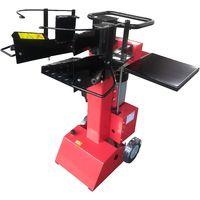 Varan Motors - NEELS-06-2019 Astilladora de leña eléctrica vertical 3500W 230V, presión 8 toneladas, tronco hasta55cm