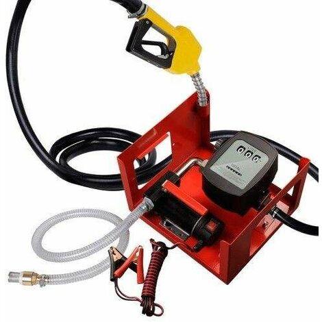 Varan Motors - NEEP-03-2 Pompe à fuel / gasoil avec clapet anti-retour, crépine d'aspiration, 12V 40l/min 150W, Pistolet à Blocage automatique