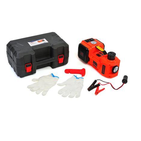 Varan Motors - NEETP-02 Cric hydraulique 12v 3 en 1, compresseur et lampe de poche