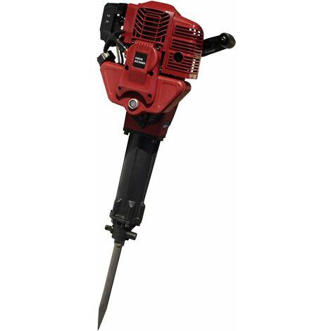 Varan Motors - NEGJH-04 Martillo neumático cincelador Martillo de demolición térmico 52cc 2.4CV 55 joules + 2 cinceles - Rojo