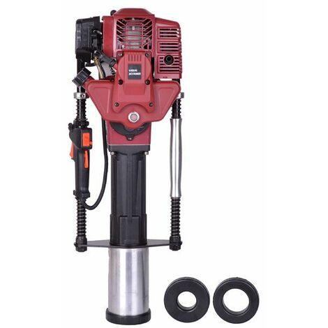 Varan Motors - NEGPD-03 Enfonce-pieux thermique moteur essence 52CC, Pilon à poteau - Rouge