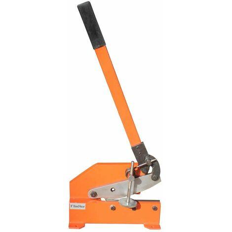 Varan Motors - NEHDS-03 Cisaille à levier manuelle pour tole, couteau de 200mm, épaisseur maximale 12mm - Orange