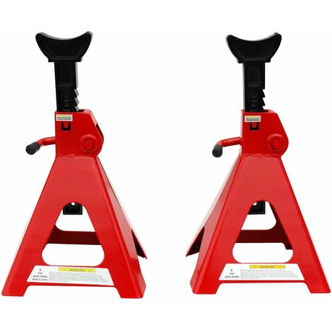 Varan Motors - NEJKS-03 STEEL JACK 6 TON PAIR AXLE STANDS STEEL FRAME LIFTING MANUAL STAND 2 PIECES