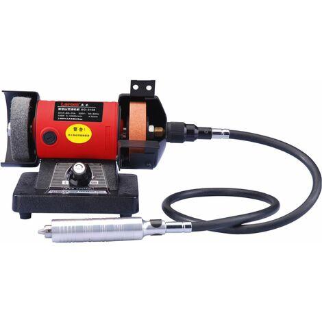 Varan Motors - NEMBG-01 Miniesmeriladora de banco 150W + flexible para herramientas multifunción - Rojo