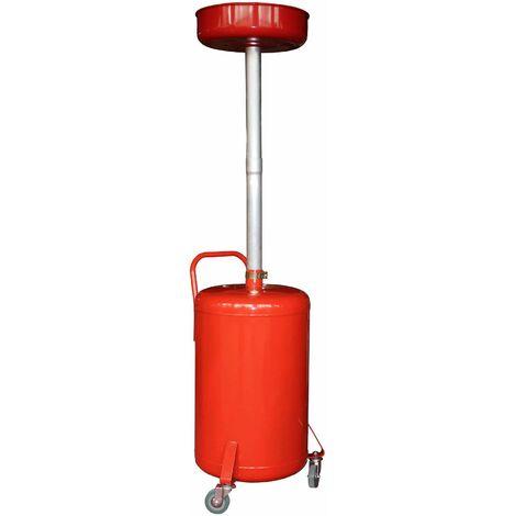 Varan Motors - NEOLD-03 Récupérateur d'huile de vidange 90 Litres - Rouge
