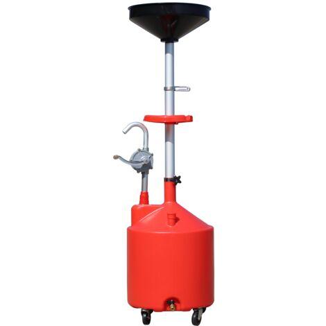 Varan Motors - NEOLD-10 Récupérateur d'huile de vidange 75L avec pompe vidange manuelle
