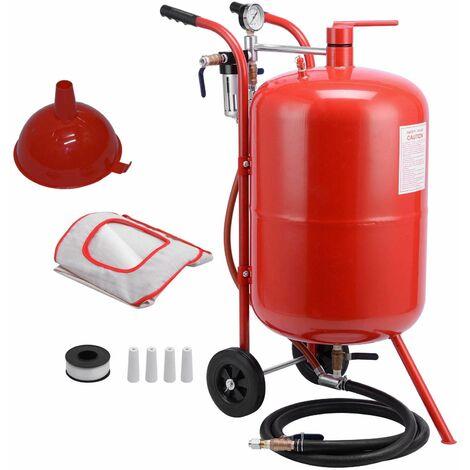 Varan Motors - NESB-03 Sableuse mobile 76 litres 0-10 Bars avec Accessoires - Rosso